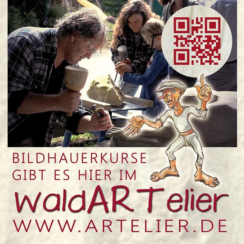 Bildhauerkurse im WaldARTelier