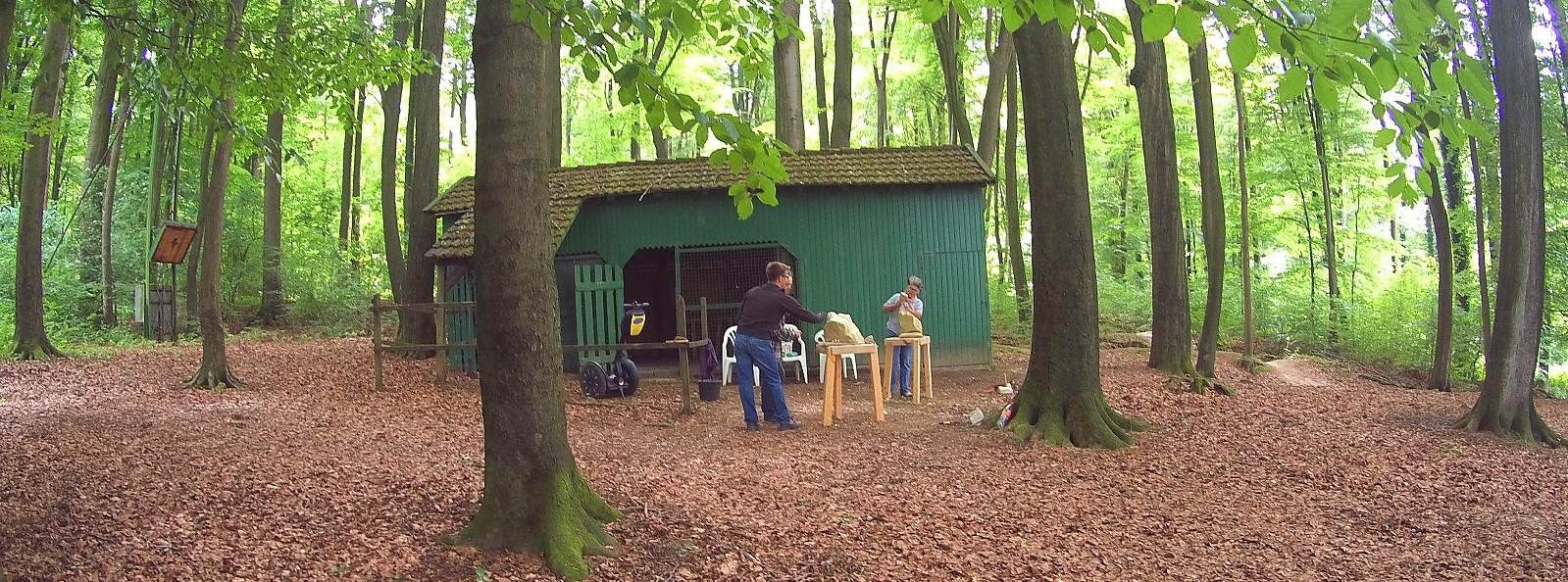 Das WaldARTelier in den Baumbergen, am Hotel Café Pannkokenhus Teitekerl