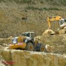 Arbeit im Steinbruch